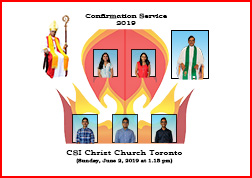 Confirmation Service 2019